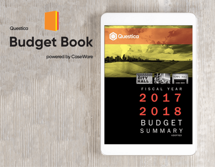Questica launches new Budget Book tool for government agencies